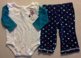 Girl's Size 6-9 M Months Two Piece White Star Garanimals Top & Carter's ... - $12.00