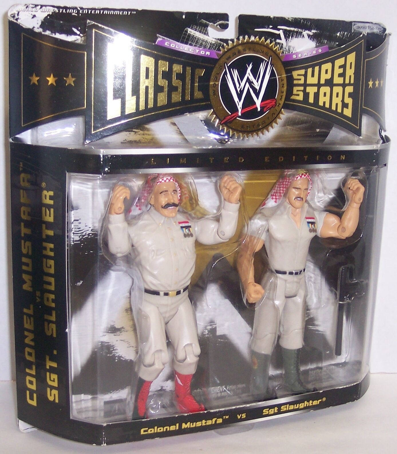 "Primary image for 2005 Classic Superstars ""Mustafa vs Sgt. Slaughter"" Action Figure Set WWF [1445]"