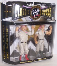 "2005 Classic Superstars ""Mustafa vs Sgt. Slaughter"" Action Figure Set WW... - $49.49"