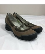 AHNU Olivia Wedge Heel Vibram Mary Janes Brown Leather Shoes Womens Size 10 - $29.99