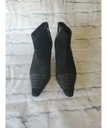 Donald J Pliner Heels 6 1/2M Lydia Ankle Booties Black Point Toe Zip Up - $69.54