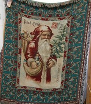 Woodworkers Weavers Paula Scaletta Postcards to Santa Tapestry Throw image 1