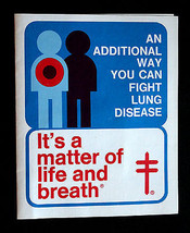 "American Lung Association ""Fight Emphysema"" Christmas Seal Booklet 1975 - $19.99"
