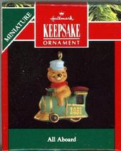 Hallmark Keepsake Miniature Ornament All Aboard 1991 - $4.95