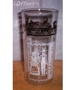 1950'S/1960'S RETRO--ANCHOR HOCKING AMISH (PENNSYLVANIA DUTCH) FARMER GLASS - $8.95