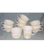 PYREX SUMMER IMPRESSIONS SUNSHINE Creamer Sugar Cups- 9 pcs -White Yello... - $25.95