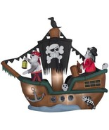 HALLOWEEN AIRBLOWN INFLATABLE 10' Animated Skeleton Halloween Pirate Ship - $200.50