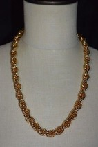 Vintage JORDAN MARSH Heavy Twist Gold Tone Chain Link Necklace With Tags - $39.60