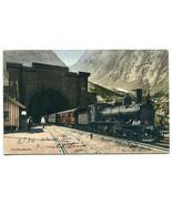 Gotthardbahn Railways Railroad Train Tunnel Goeschenen Switzerland postcard - $8.42