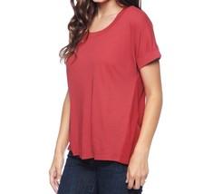 SPLENDID (CUR) Red LIGHT JERSEY RIB Shirt TEE Top ST9683 ( M ) Free Ship... - $57.91