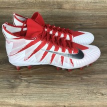 Nike Alpha Menace Elite Men's Size 17 Red White Football Cleats 877141-6... - $55.79