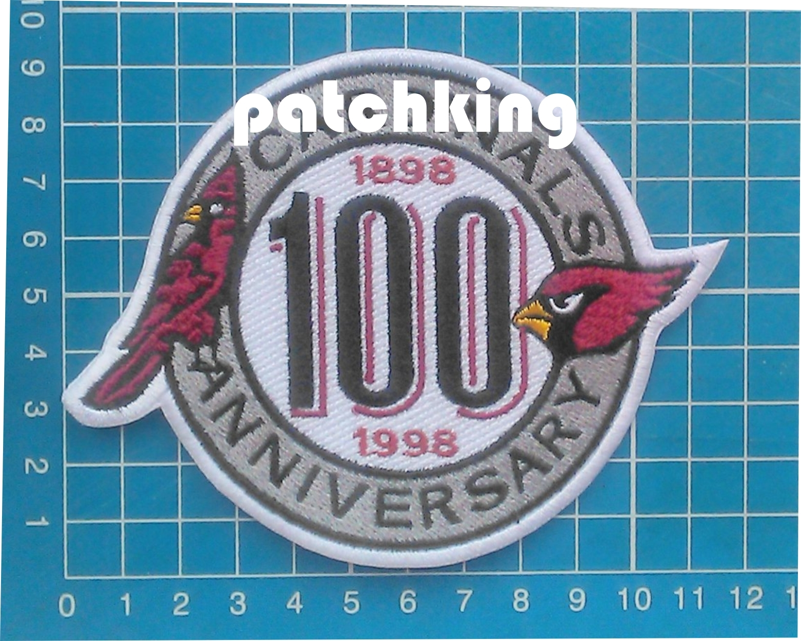 "Primary image for NFL Football Arizona Cardinals 100th years Anniversary patch jersey 4.5"" embroid"