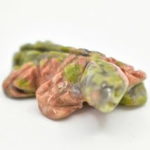 Unakite Jasper Gemstone Tiny Miniature Frog Figurine Hand Carved in China image 7