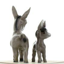 Hagen Renaker Miniature Farm Burro Donkey Mama and Baby Ceramic Figurine Set image 6