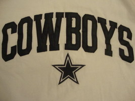 NFL Dallas Cowboys National Football League Fan White T Shirt adult size S - $12.86