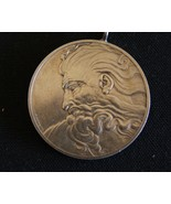 The Head Of God, The Genius of  Michelangelo 1.3 oz. 925 Silver coin med... - $79.55