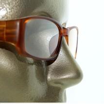 Reading Glasses Sleek Rectangle Spring Hinge Frame Frosted Matte Amber +2.25 - $18.00