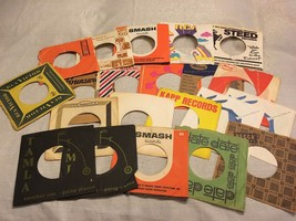 "(21) Empty Sleeves 45RPM 7"" Single Record Holder Tamla Smash Decca Date ... - $28.04"