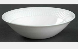 Coupe Cereal Bowl Balustrade by MARTHA STEWART France Solid White Width ... - $7.69
