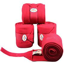 Crimson Red Professional Choice Tack Horse Leg Pile Fleece Polo Wrap Set... - $35.63