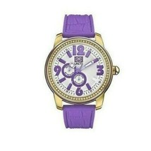 Marc Ecko E13544G4 Women's Purple Rubber Strap with Gray Analog Dial Watch - $38.35