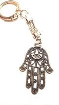 bronze hamsa hand chainmail keyring  bronze keychain keyring