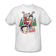 Betty Boop I Want It All Christmas T-shirt Felix The Cat Comic Cartoon BB621 image 2
