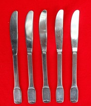 "5X Dinner Table Knives FB Rogers Stainless Flat Square End Flatware 8.5""... - $27.72"