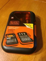 NEW Black & Decker Compact Series Quick Connect 30 Piece Screw driving B... - $9.50