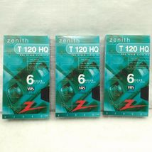 BRAND NEW Zenith HQ High Quality T-120 Blank VHS Video Tapes 6 Hour EP Mode X3 image 1