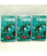 BRAND NEW Zenith HQ High Quality T-120 Blank VHS Video Tapes 6 Hour EP M... - $9.00