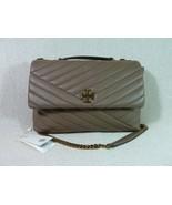 NWD Tory Burch Classic Taupe Kira Chevron Convertible Shoulder Bag - $443.52