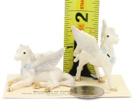 Hagen Renaker Miniature Fantasy Pegasus Lying and Standing Ceramic Figurine Set image 2