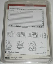 2004 Stampin' Up! What's for Dinner 9-Piece Unassembled Recipe Card Stam... - $18.81