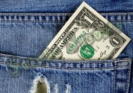 One Dollar in my Back Blue Jeans Pocket Vinyl Sticker Decal - $3.75