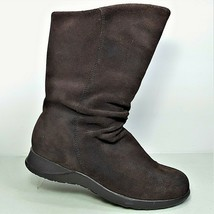 """Earth Shoe """"Kenai"""" Women's Brown Suede Mid Calf Slip On Boots Size 7.5 - $29.99"""