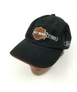 VINTAGE Ford F-150 Harley Davidson Hat Cap Black Strapback Travelers & A... - $27.33