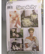 Vintage Simplicity Sewing Pattern 8530 Bridal Accessories Gloves Ring Pi... - $8.00