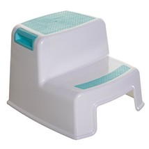 Dreambaby 2-Step Stool - Aqua, White