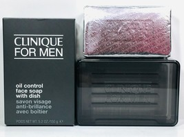 Clinique For Men Oil Control Face Soap with Dish New in box Full Size 5.... - $20.75