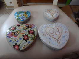 Lot of 4 Brighton heart shaped tins  (lot D) - $10.50