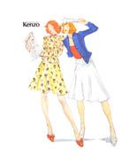 1970s Vtg Butterick 3659 Sewing Pattern Kenzo Flared Skirt Top Peplum 12... - $34.95