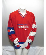 Cowichan Valley Capitals Jersey (VTG) - Away Red by AK - Men's Extra Large  - $75.00