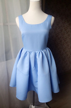 DUSTY BLUE Fit and flare Dress Blue Princess Dress Elegant Girl Party Dress NWT image 2