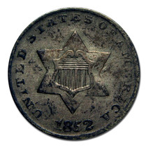 1852 THREE CENT SILVER COIN Lot# MZ 2701