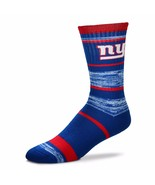 NFL New York NY Giants Logo RMC Stripe Unisex Crew Cut Socks - Medium - $9.95