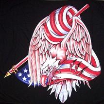 WRAPPED EAGLE USA WALL BANNER WB224 flag biker american - $6.31