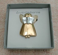 Liz Claiborne modern contemporary angel pin brooch fashion jewelry - $15.99