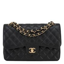 CHANEL Classic  Handbag in Black Quilted Caviar... - $4,500.00