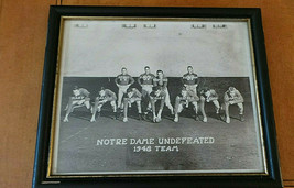 Vintage Notre Dame Undefeated 1948 Team College Football Framed Photo; T... - $195.00